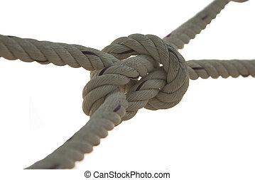 a, corda, nó, textura, fundo