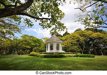 a, coreto, em, cingapura, botanica, gardens.