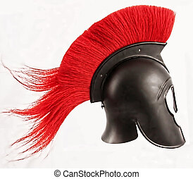 helmet - A Corinthian helmet with a red comb
