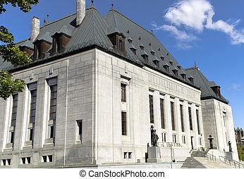 Supreme Court of Canada - A corner view of the Supreme Court...
