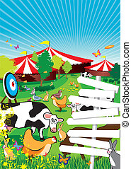 country fair - a country fair background