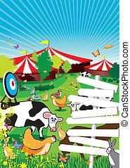 country fair - a country fair background