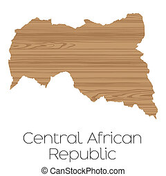 Country Shape isolated on background of the country of Central African Republic