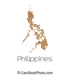 Country Shape isolated on background of the country of Philippines