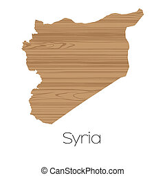 Country Shape isolated on background of the country of Syria