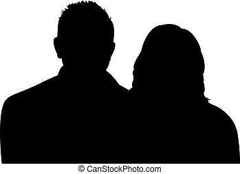 a couple body silhouette