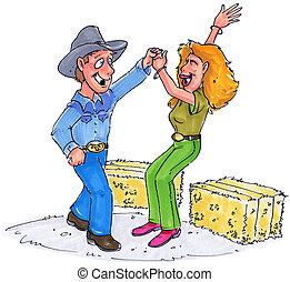 dance - a couple doing a barn dance