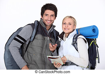 A couple going camping.