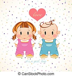 A couple in love. Girl and boy with