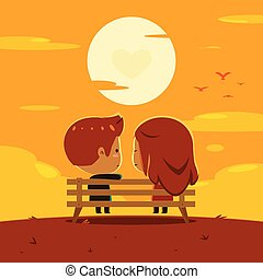 a couple is enjoying sunset together