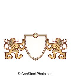 a couple of lions crest