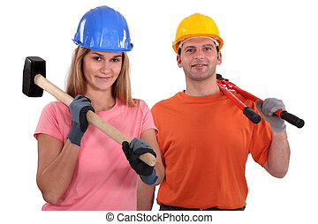 A couple of manual worker.