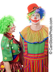 A couple of serious clowns
