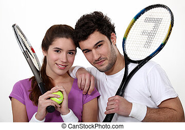 A couple of tennis players.