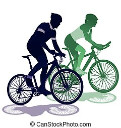 a couple on a bicycle