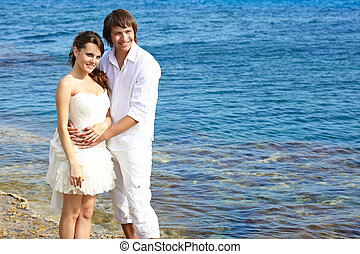 A couple on the beach
