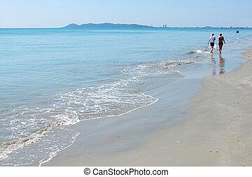 a couple on Tropical beach