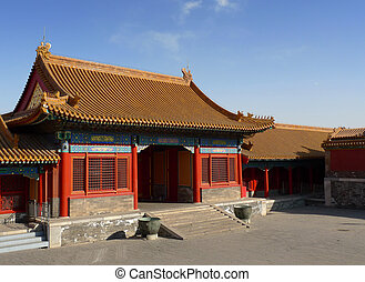A court entrance in the Forbidden City, Beijing, China