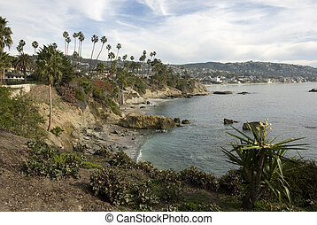 A cove in on the California coast