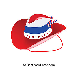 A Cowboy Hat of Thai Flag on White Background
