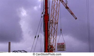 A crane loading some cargo