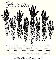 A creative 2019 musical calendar