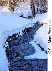 A creek in the winter