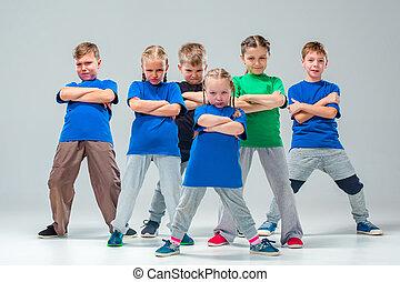 a, crianças, escola dança, balé, hiphop, rua, funky, e,...