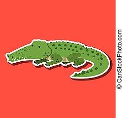 A crocodile sticker character