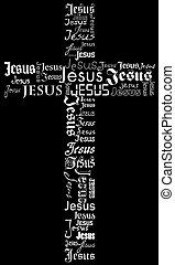 cross - A cross from the name of Jesus