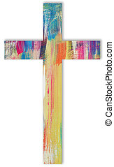 cross - A cross with bright colors