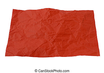 a crumpled piece of red paper
