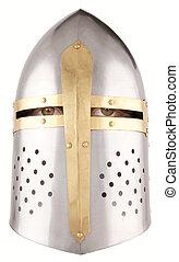 helmet - A crusader helmet with human eyes