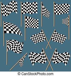 a cuadros, banderas