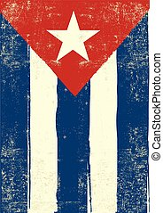 cuban grunge poster