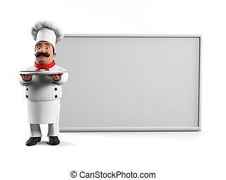 a, cuisine, chef cuistot