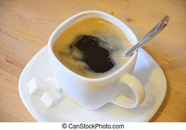 A cup of black coffe