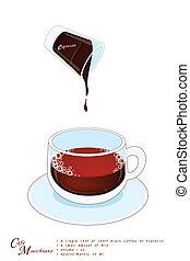 A Cup of Cafe Macchiato or Caffe Macchiato - Cafe Macchiato...