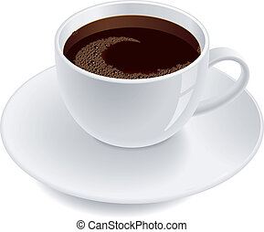 A cup of coffee.