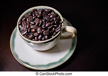 A cup of coffee bean 3