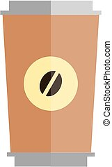 A cup of coffee - Cup of coffee vector work.