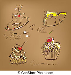 A cup of coffee cupcake and cheese