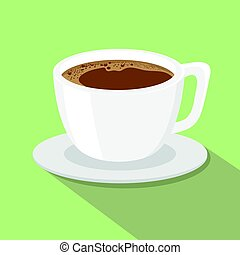 A cup of coffee flat style vector illustration.