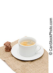 a cup of coffee isolated on white