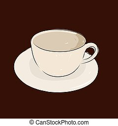 A cup of coffee, vector illustration