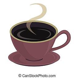 A cup of coffee. Vector illustratio