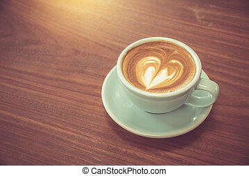 A cup of coffee with heart