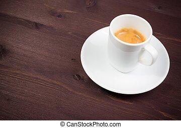 a cup of italian espresso coffee