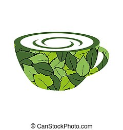 a cup of organic tea for healthy life logo