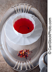 A cup of Red fruit tea